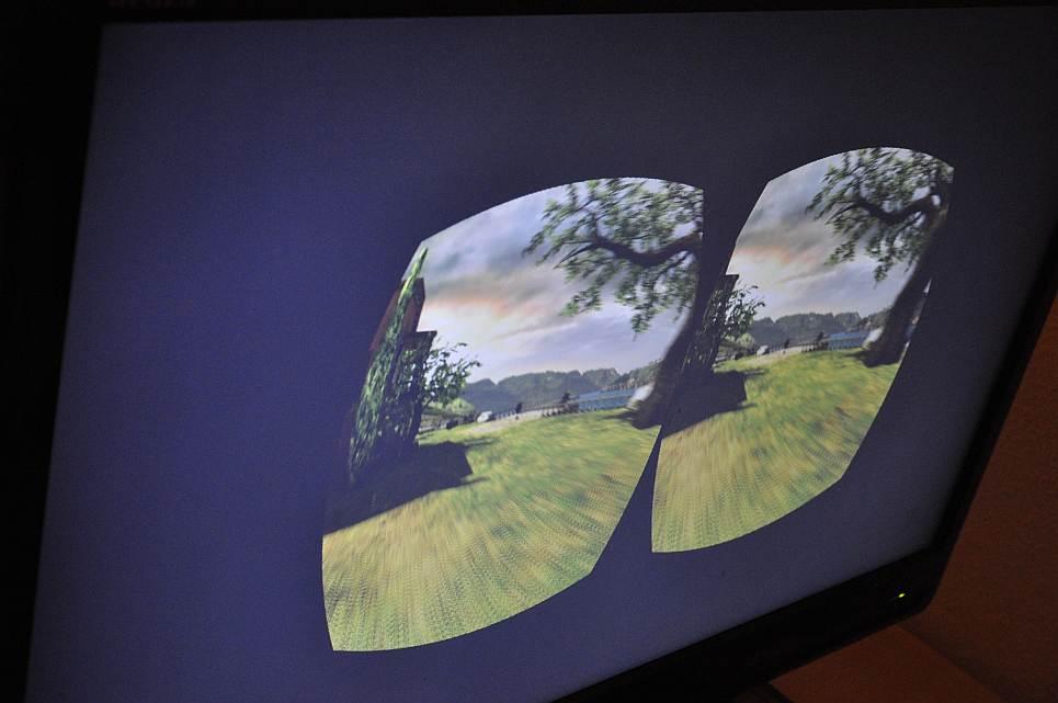 Die beiden Seheindrücke der Oculus rift